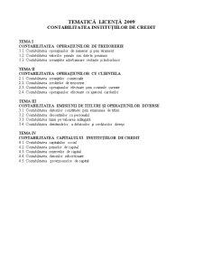 Tematica Licenta - Contabilitatea Institutiilor de Credit - Pagina 1