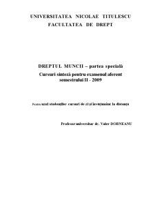Dreptul Muncii - Partea Specială - Pagina 1