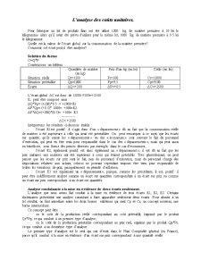 L'Analyse des Couts Unitaires - Pagina 1