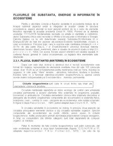 Fluxul de Energie - Informatie si de Substante in Ecosisteme - Pagina 1