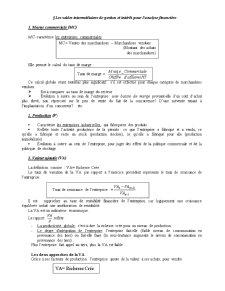 Les Soldes Intermediaires de Gestion - Pagina 1