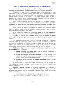 Clauza de Arbitraj si Compromisul - Pagina 1