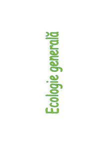 Ecologie Generală - Pagina 1