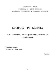 Contabilitatea Creanțelor și a Datoriilor Comerciale - Pagina 2