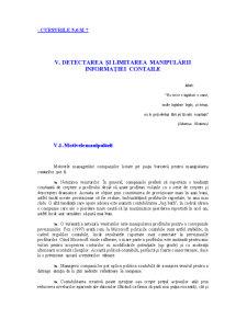 Detectarea si Limitarea Manipularii Informatiei Contabile - Pagina 1