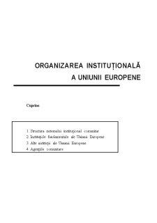 Organizarea Uniunii Europene - Pagina 1