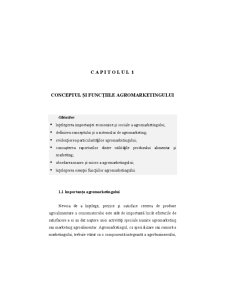 Conceptul și Funcțiile Agromarketingului - Pagina 1