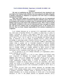 Locul Săvârșirii Infracțiunii - Pagina 1