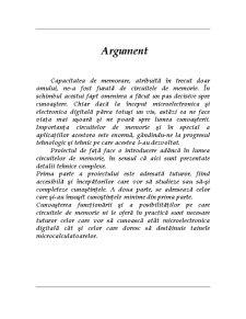 Studiul Circuitelor de Memorie - Pagina 1
