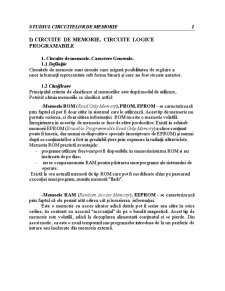 Studiul Circuitelor de Memorie - Pagina 3
