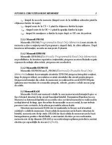 Studiul Circuitelor de Memorie - Pagina 5