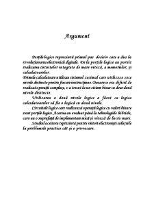 Studiul Portilor Logice - Pagina 1