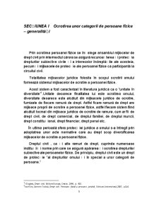 Ocrotirea Persoanei Fizice prin Mijloace de Drept Civil - Pagina 3