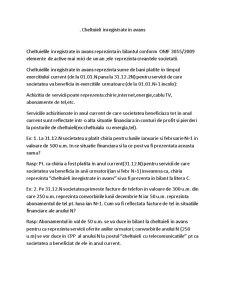 Cheltuieli Inregistrate in Avans - Pagina 1