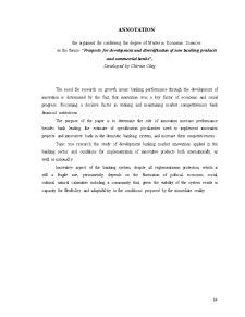 Perspectivele Dezvoltării și Diversificării Produselor și Serviciilor Bancare Noi în Băncile Comerciale - Pagina 2