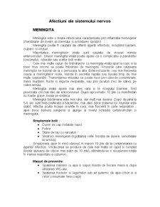Afectiuni ale Sistemului Nervos - Pagina 1
