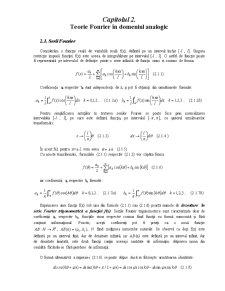 Prelucrarea Semnalelor - Curs 2 - Pagina 1