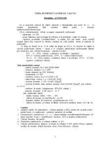 Proiectarea Sistemului de Reglare Automata a Vitezei-Pozitiei unui Motor cu Excitatie Independenta - Pagina 2