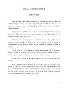 Istoria Uniunii Europene - Pagina 1