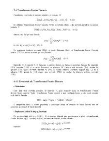 Prelucrarea Semnalelor - Curs 5 - Pagina 5