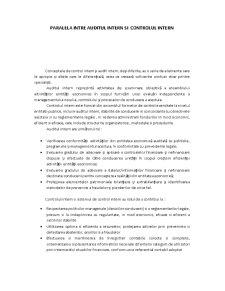 Paralela audit intern, audit extern, control intern - Pagina 1