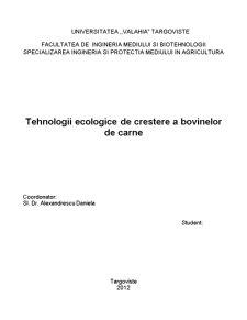 Tehnologii Ecologice de Cresterea Animalelor - Pagina 1