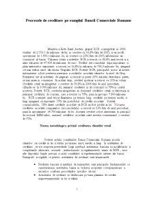 Procesele de Creditare pe Exemplul BCR - Pagina 1