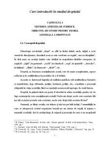 Curs Introductiv în Studiul Dreptului - Pagina 1