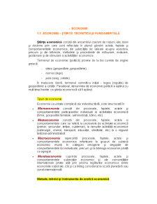 Economia - Știință Teoretică și Fundamentală - Pagina 1
