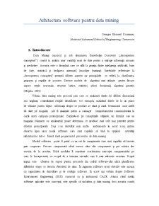 Arhitectura Software pentru Data Mining - Pagina 1