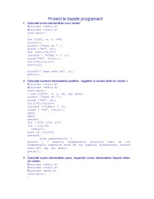 Probleme Rezolvate în C - Pagina 1