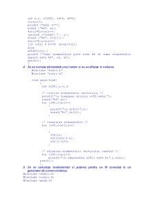 Probleme Rezolvate în C - Pagina 2