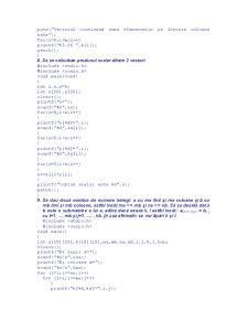 Probleme Rezolvate în C - Pagina 5