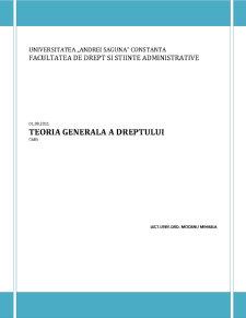 Teoria Generala a Dreptului - Pagina 1