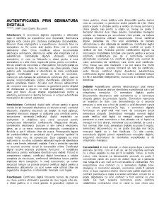 Autentificarea prin Semnatura Digitala - Pagina 1