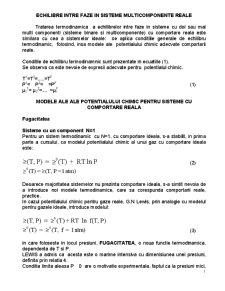 Echilibre Intre Faze in Sisteme Multicomponente Reale - Pagina 1