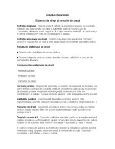 Sistemul de Drept și Ramurile de Drept - Pagina 1