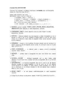 Cursoare SQL Server 2008 - Pagina 1