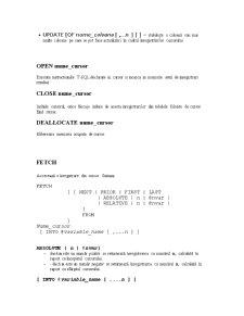Cursoare SQL Server 2008 - Pagina 2