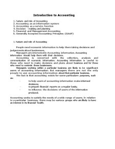 Introduction to Accounting - Pagina 1
