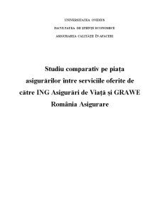 Studiu Comparativ pe Piata Asigurarilor - ING si Grawe - Pagina 1