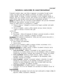 Incheierea Contractului de Comert International - Pagina 1