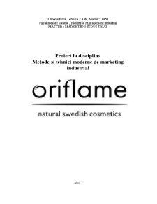 Metode și Tehnici Moderne de Marketing la Oriflame - Pagina 1