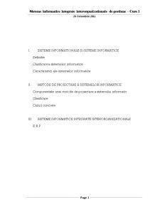 Sisteme Informatice Integrate - Pagina 1