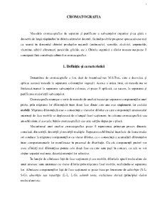 Cromatografie - Pagina 1