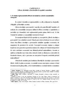 Libera Circulație a Lucrătorilor în Spațiul Comunitar - Pagina 3