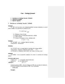Limbaje Formale - Curs 1 - Pagina 1