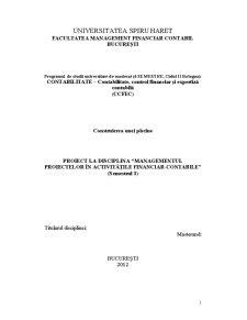 Managementul Proiectelor în Activitățile financiar-contabile - Pagina 1