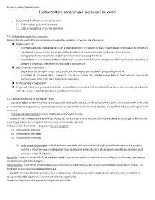 Burse si Piete Internationale - Pagina 1