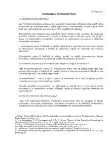Domeniile Econometriei - Pagina 1